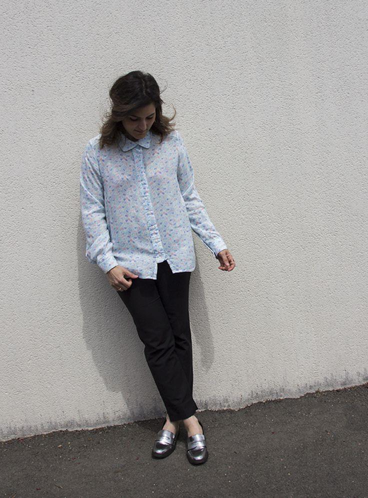 Chemise Quinn shirt, Named Clothing Pantalon Zara Mocassins Texto Bagues 7 bis