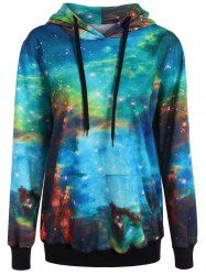 Pullover Galaxy Print Hoodie
