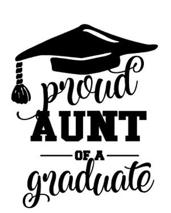 Proud Aunt of a graduate iron on / Graduation iron on