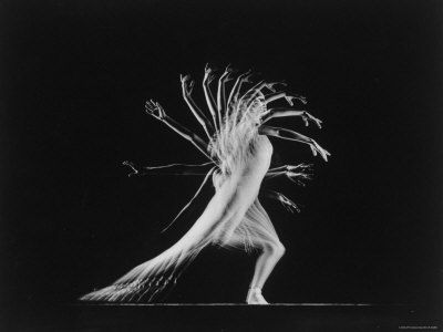 Multiple exposure of Patricia McBride, from the Life Magazine archives