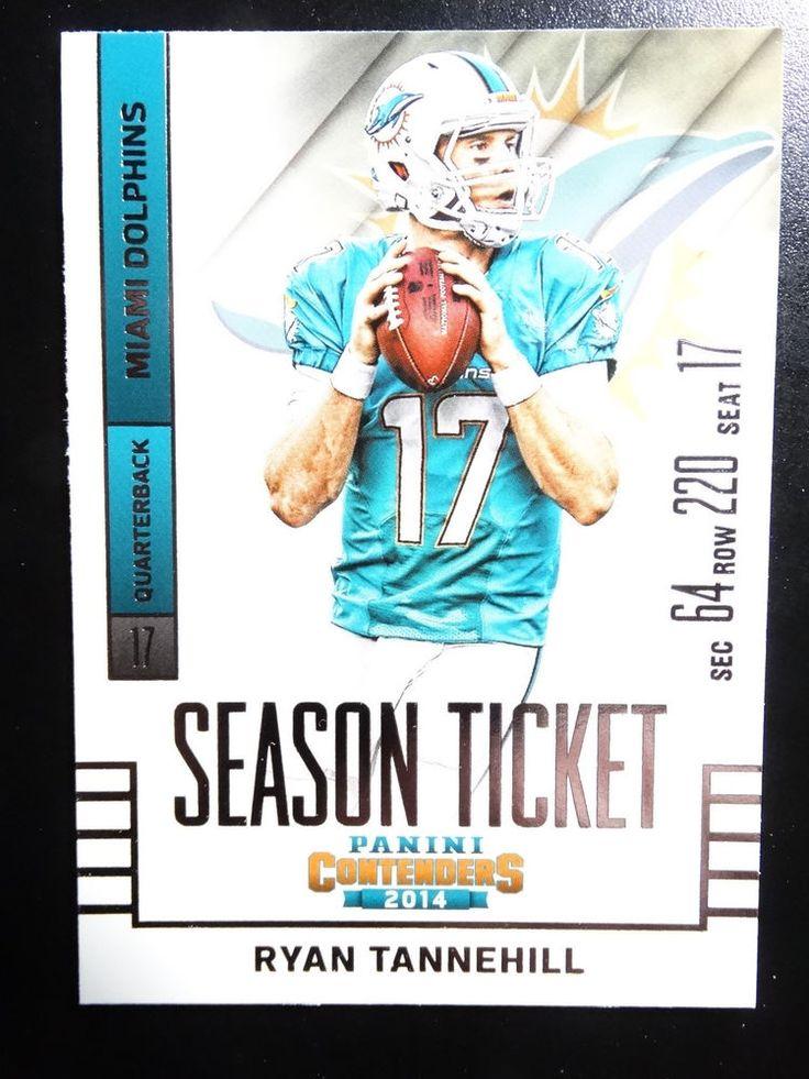 2014 Panini Contenders Season Ticket #40 Ryan Tannehill Miami Dolphins Card  #MiamiDolphins