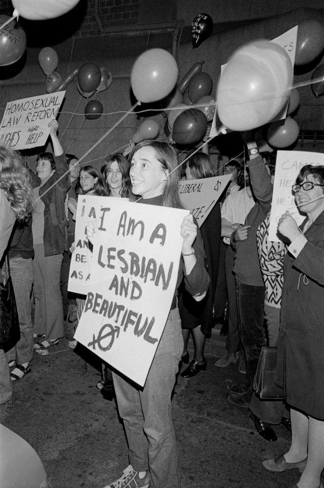 Storey. 'Untitled [I am a Lesbian and Beautiful]' 1971, Sydney, Australia.
