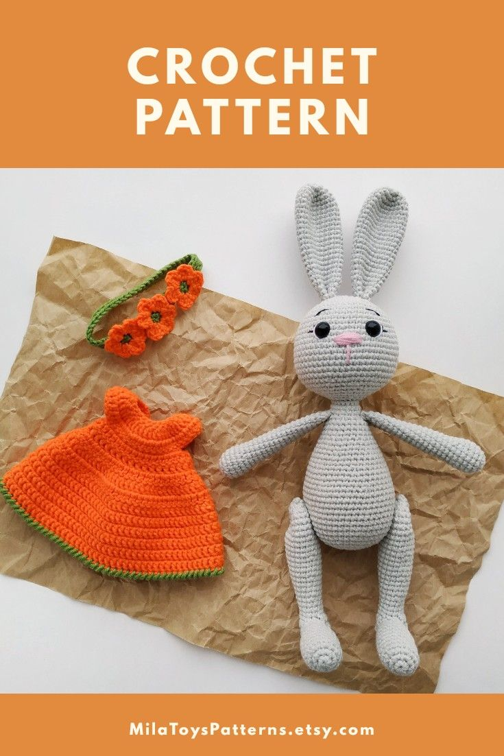 instant download Bunny crochet pattern crochet Bunny doll Crochet Bunny pattern Mila the Bunny Crochet pattern crochet amigurumi