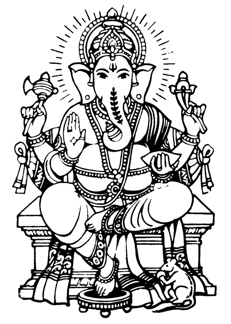 Lord Ganesha Drawings For Kids