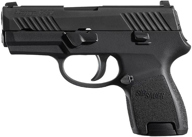 SIG-Sauer P320 pistol, version Full-size  SIG-Sauer P320 pistol, version Carry  SIG-Sauer P320 pistol, version Sub-compact    P320 full-size P320 carry P320 compact P320 subcompact Trigger type Double action with pre-tensioned striker Caliber 9×19, .357SIG, .40SW, .45ACP 9×19, .357SIG, .40SW 9×19, .357SIG, .40SW, .45ACP 9×19 Weight, empty 0.83 kg 0.74 kg 0.73...