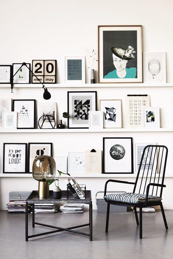 #White #black #shelves