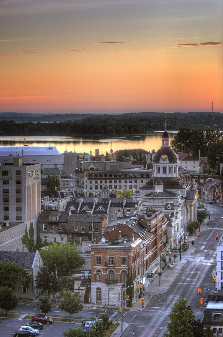 Just at sunrise in Kingston, Ontario.