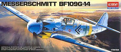 Messerschmitt Bf 109G-14. Academy, 1/72, injection, No.12454. Price: 7,19 GBP.