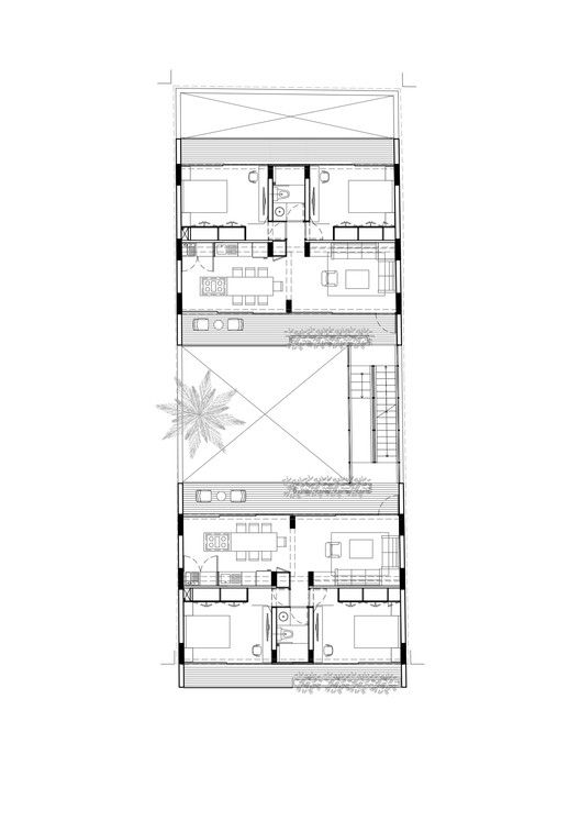 This is how apartments should be designed - with windows on at least two sides!  Apartment Oriente 7 16 Floor Plan in Mexico City | Accidental (architects)