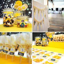 Risultati immagini per tavola decorazioni gialle