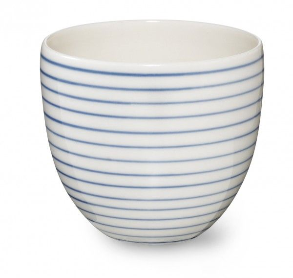 Stripes handthrow cup narrow blue line SR380B - Stripes handthrow cup narrow blue line - collections
