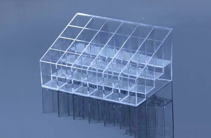 24 Lipstick Holder Display Stand Clear Acrylic Cosmetic Organizer Makeup Case