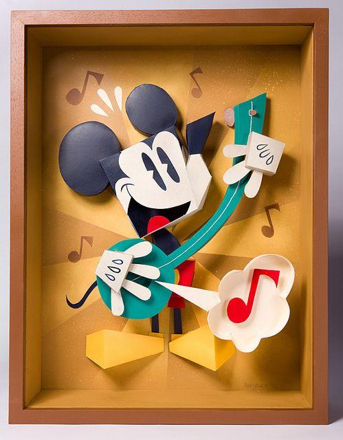He Sings, He Dances by Custom Paper Toys, via Flickr