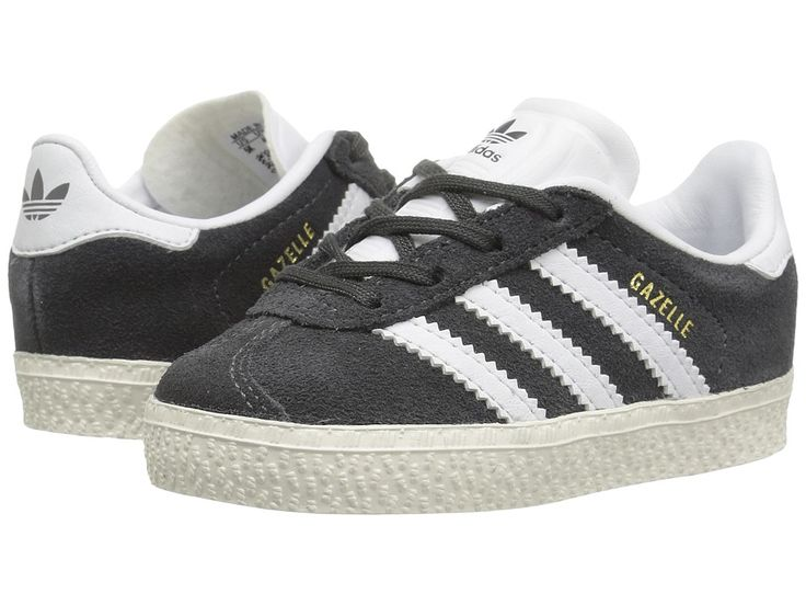 adidas Originals Kids Gazelle (Toddler) Kids Shoes DGH Solid Grey/White/Gold