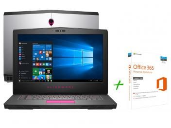 """Notebook Dell Alienware 15 AW-15R3-A10 Intel Core - i5 8GB 1TB LED 15,6"""" + Office 365 Personal"""