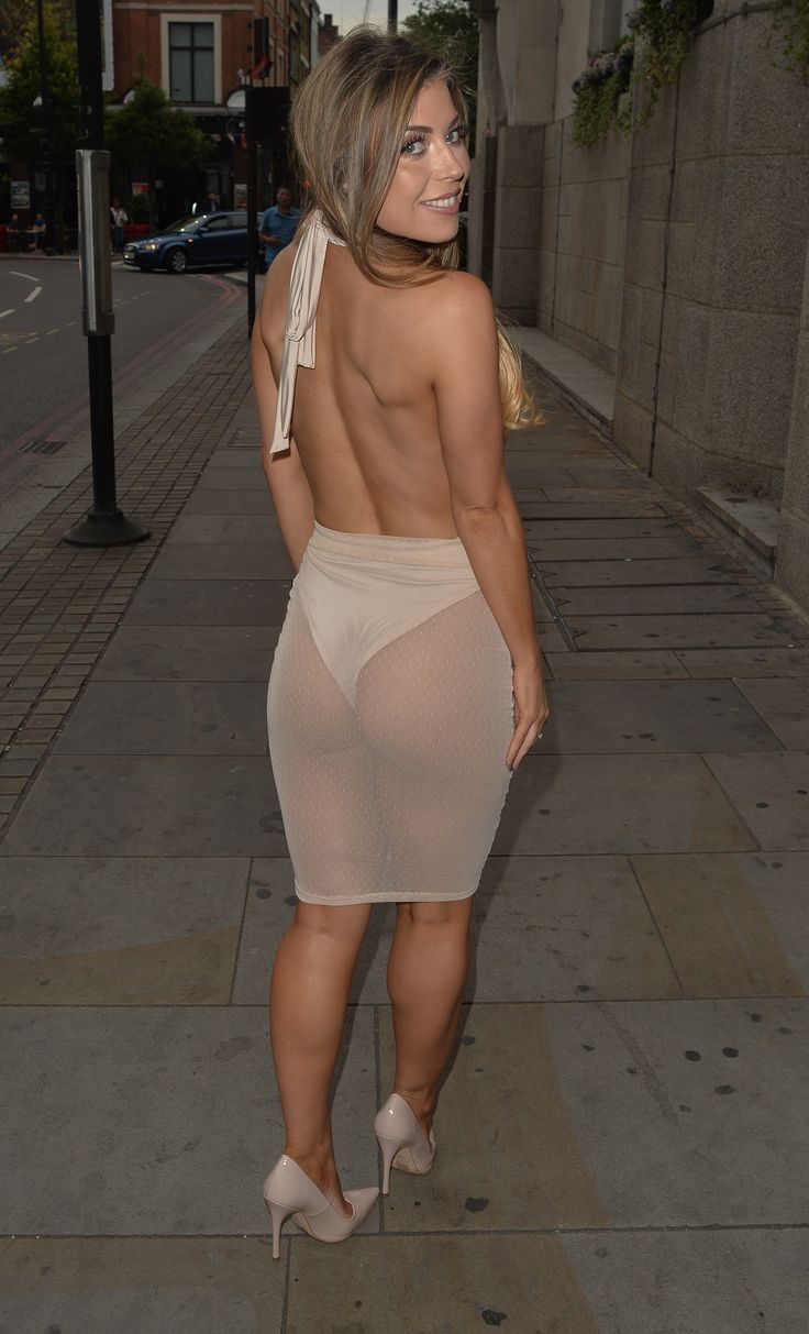 Former TOWIE star Abigail Clarke shows off posterior in