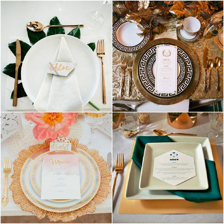 Wedding Trend 2016: Gold Foil