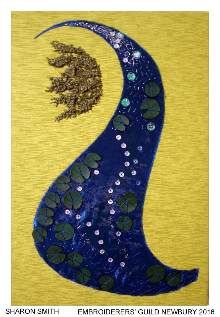 """""""This Line of Beauty"""", by Sharon Smith, Newbury branch of Embroiderers' Guild. Part of """"Celebrating 300 years of Capability Brown"""" exhibition at Blenheim Palace 13 April - 2 May 2016. Exhibition held as part of the UK's Capability Brown Festival"""