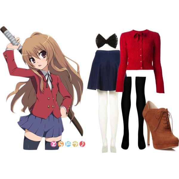 ANIME INSPIRED OUTFITS; Aisaka Taiga/Toradora inspired outfit by animexoutfits on Polyvore featuring Dolce&Gabbana, Topshop, Boohoo and Forever 21