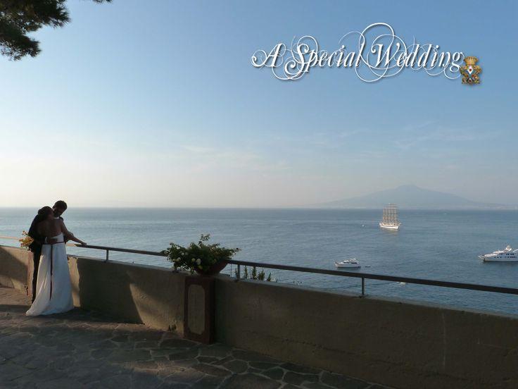 Veduta dalla terrazza belvedere del Museo a Sorrento