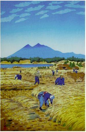 Harvesting, by Shiro Kasamatsu