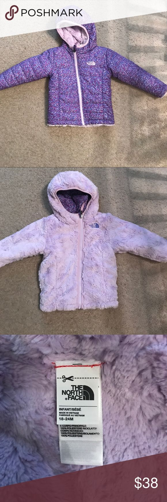 The north face reversible toddler winter jacket Worn twice when it barely snowed that one time in Georgia last year 😂 like new, size 18-24m The North Face Jackets & Coats Puffers