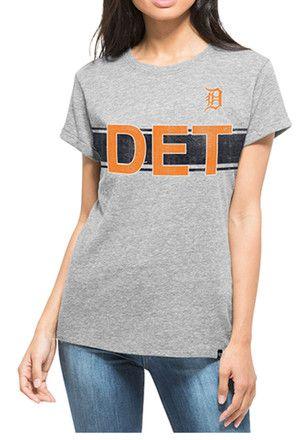 '47 Detroit Tigers Womens Grey Super Hero T-Shirt