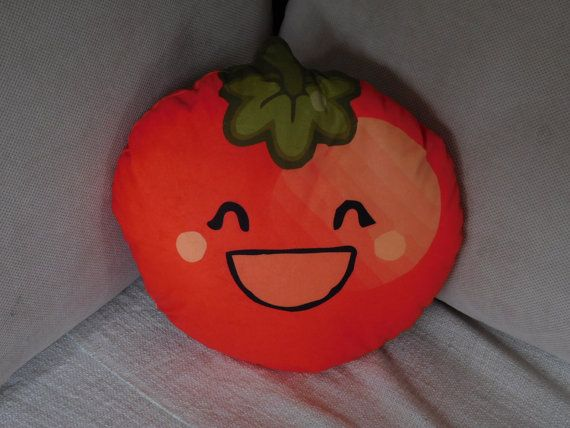 tomato pillow food pillow vegetable pillow by NiviaWorkshop
