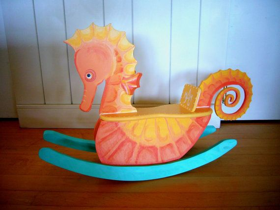 Rocking Seahorse for a mermaid nursery
