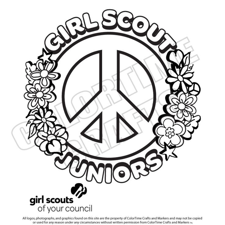24 Best Images About Gs Color Pages On Pinterest Scout Junior Coloring Pages Free