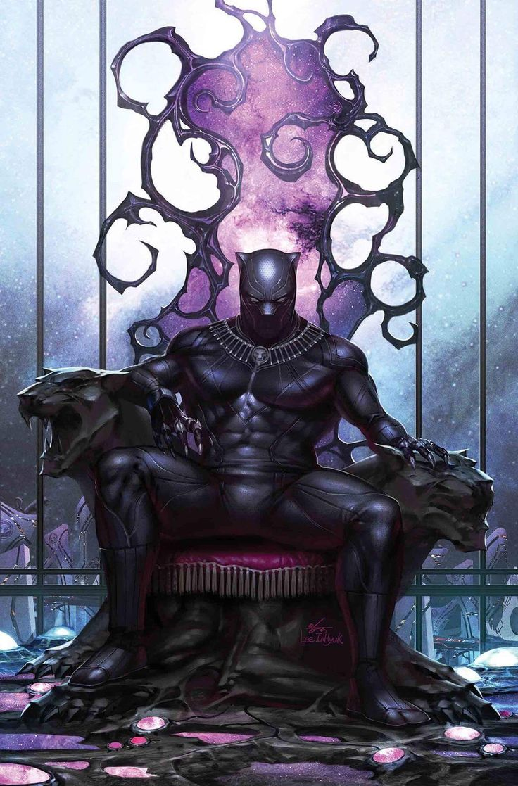 Marvel Comic Book Artwork • Black Panther by Inhyuk Lee. Follow us for more awesome comic art, or check out our online store www.7ate9comics.com