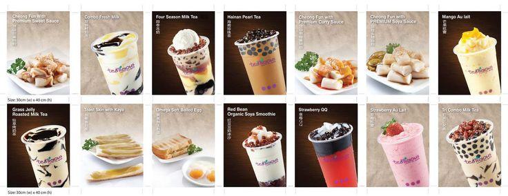 HainanTea Xpress Rawang Menu Board design | konstudio