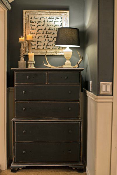We could think about painting and distressing some of those old dressers. Especially in the bunk room