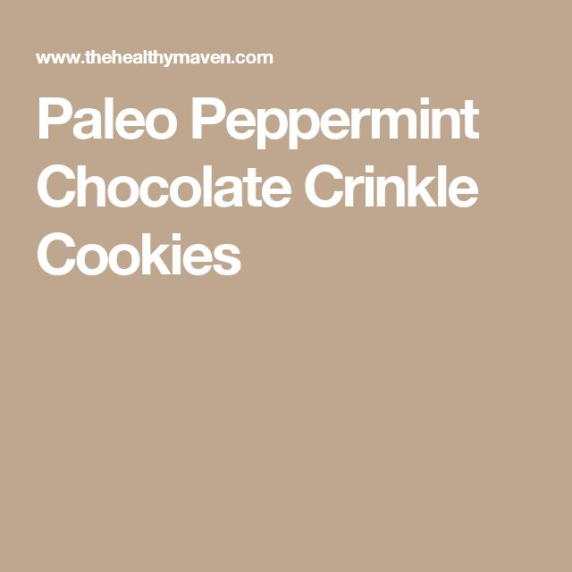 Paleo Peppermint Chocolate Crinkle Cookies