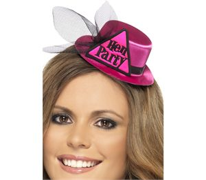 This adorable little Hen Party Hat is the perfect finishing touch to any hen night outfit. This adorable mini hat is in a fetching bright pink and black trim, and has a very appropriate warning triangle on the front with the words 'Hen Party' proudly printed on it so that everyone will know exactly why you and your girls are out partying! Just £4.29 for the most chic hen night accessory on the block!