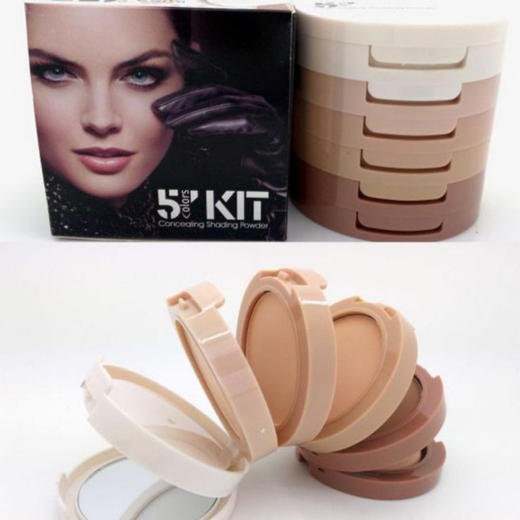 5 in 1 Multifuction Women Makeup Contour Shading Concealer Powder Palette Set Cosmetic
