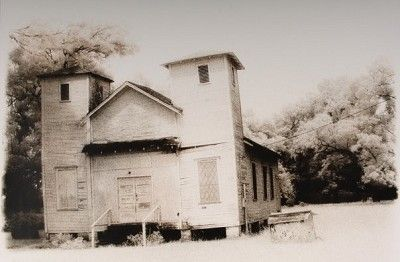 """""""Church-Fort Bend County, Texas"""" by Tommy Lavergne, silver gelatin print, 2000, 16""""x20"""" www.thornwoodgallery.com"""