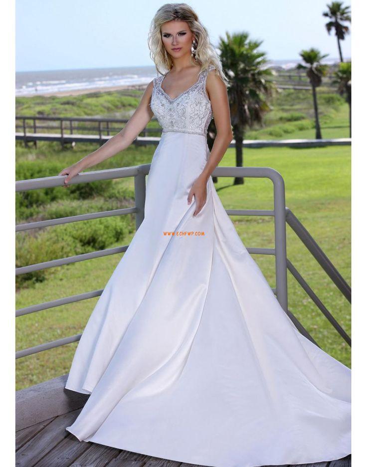 Kert / Kültér Kis fehér szoknyák Szatén Évjárat Menyasszonyi ruhák