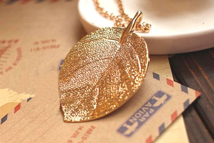 Cheap costume gold jewelry alloy blade leaf design pendants necklaces collares 2015 gold leaf gilding collier fashion for women
