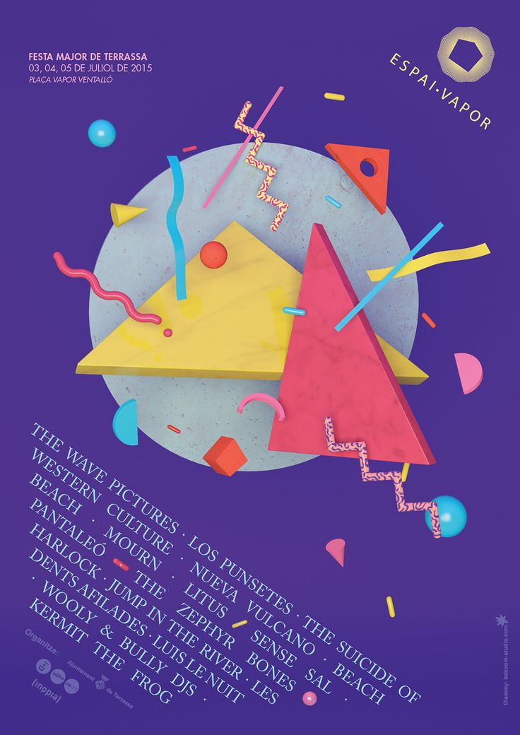 Music Festival Espai Vapor 2015. art direction.