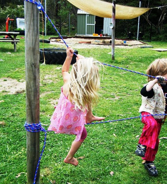 building a rope bridge: Building, Rope Bridge, Outdoor Play, Ropes, Kids, Bridges, Children Play