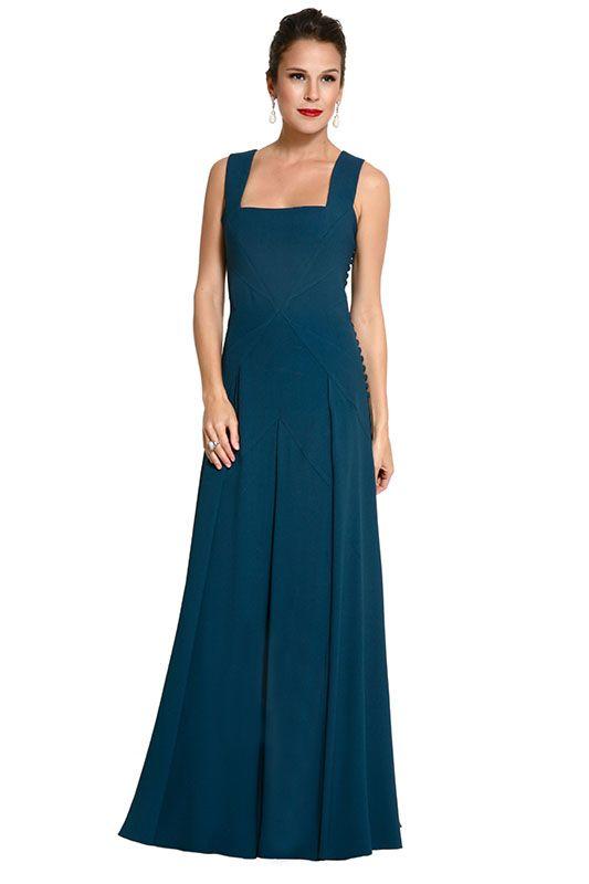 Dress and Go | Vestido Dionisia Petroleo - Andre Lima Alugue agora!!! www.dressandgo.com.br