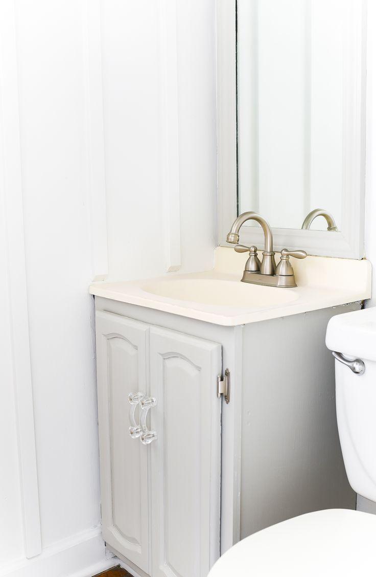 Gray Painted Bathroom Vanity Repose Gray Sw Painted Vanity Bathroom Bathroom Vanity Gray Bathroom Decor