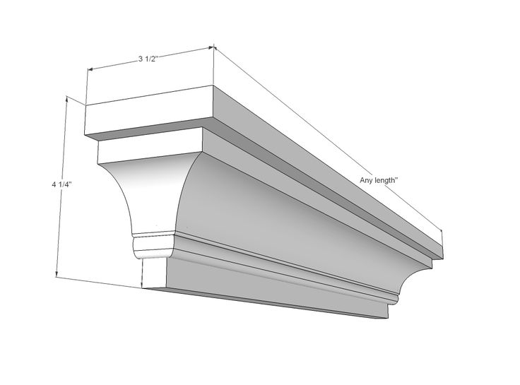 how to build a floating fireplace mantel with crown molding