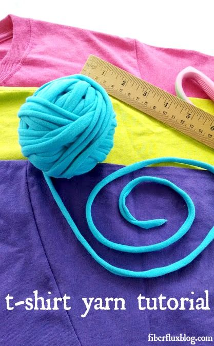How To Make T-Shirt Yarn (photo + video tutorial from Fiber Flux)