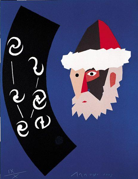 Eduardo Arroyo, Gutenberg y su galaxia, 1993 Litografía en 5 colores Formato: 65 x 50 cm Papel: Arches  Edición de 130 ejemplares numerados y firmados