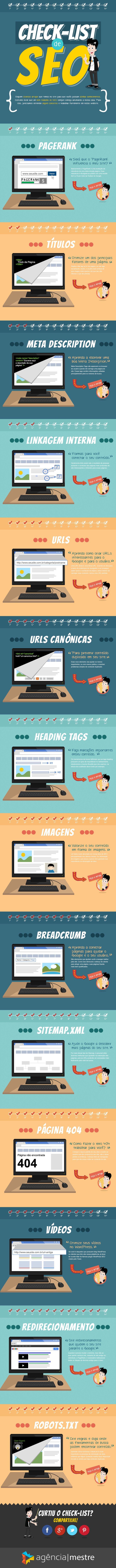 Infográfico - Checklist de SEO #infographic #seo
