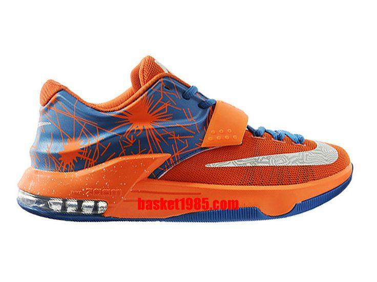 Chaussures Basket Nike Kd 7/VII Pas Cher Pour Homme Orange Bleu 653996-ID8