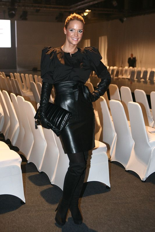 Long Tight Leather Skirt