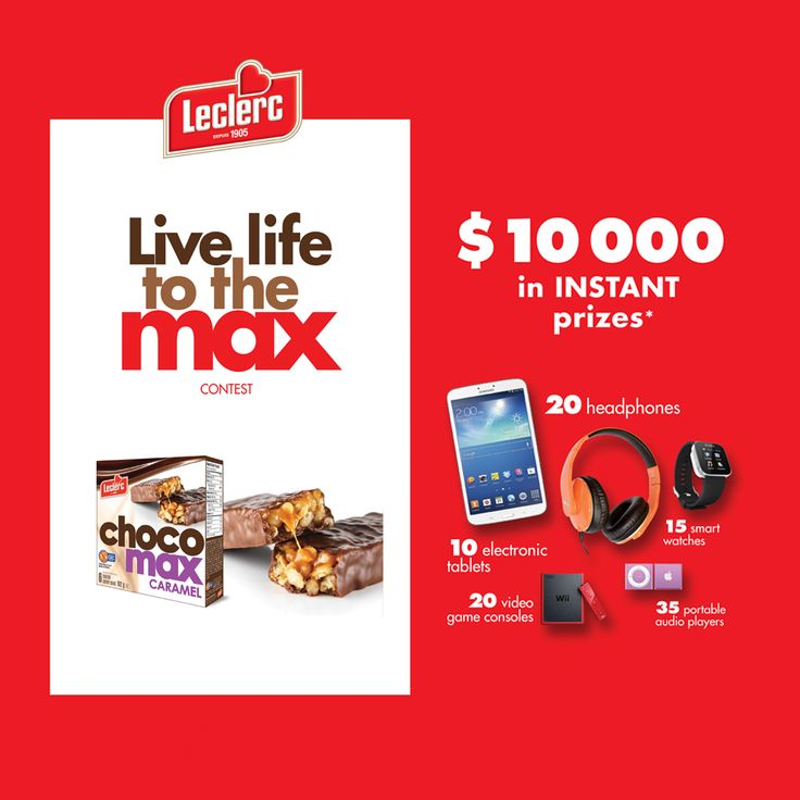 "[CLOSED] Our ""Live life to the Max"" contest is on! Until April 30, you could win one of 100 INSTANT prizes. Enter as often as you like (limit of one entry per day)."
